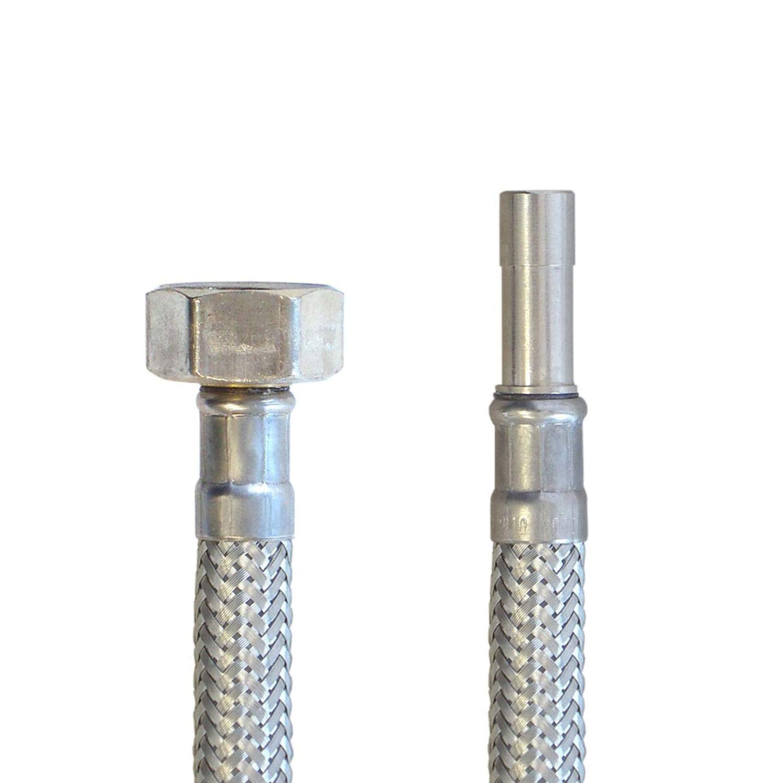 Edelstahl L/änge 20 cm,Made in Germany DN08 Flexschlauch f/ür Sanit/är mit Trinkwasserzulassung Panzerschlauch 1//2/ÜM x 10mm Rohr