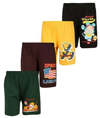 dongli Boys Printed Shorts (Pack of 4) Boys' Shorts & Dungarees at amazon