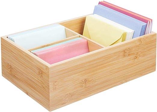 mDesign Organizador de escritorio de madera – Práctica caja ...