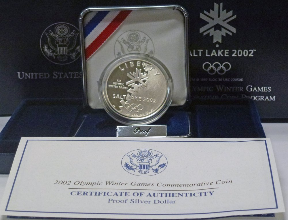 2002 SLC Winter Olympics Commemorative Silver Dollar Proof