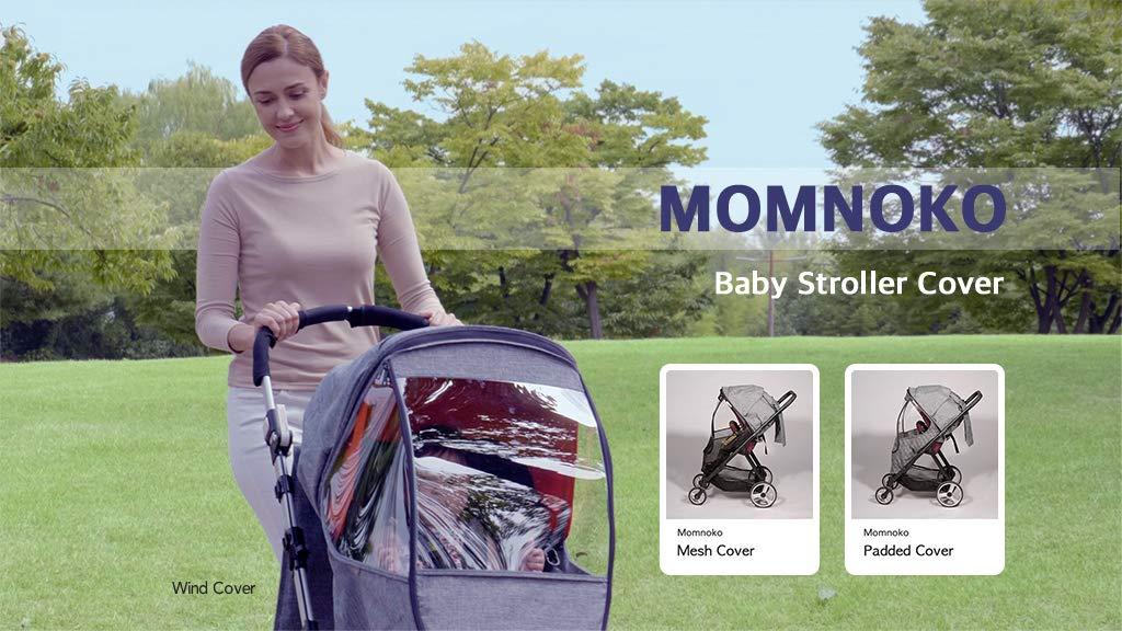 Momnoko Spaceship Stroller Weather Shield, Wind Cover, Grey Melange