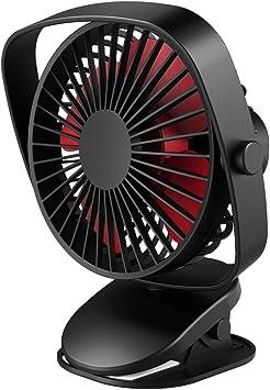 VersionTECH. Mini Ventilador de Mesa con Clip Abrazadera Rotación ...