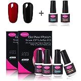 CLAVUZ Gel Nail Polish Set Soak off UV LED Nail Starter Kit Pick Any Color