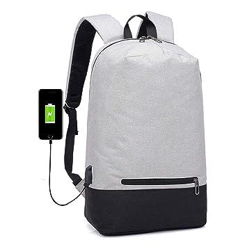 Zywtrade Mochila para portátil de Negocios Anti ladrón Resistente al Agua con Puerto de Carga USB College School Backpaks Fit 15,6 Pulgadas,Gray: Amazon.es: ...