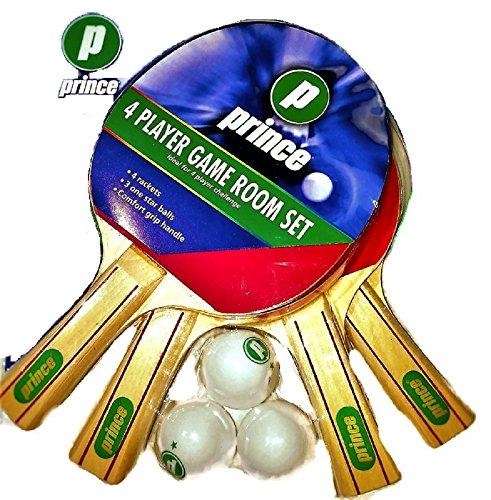 Prince 2 player Racket Set {2 Rackets, 3 One Star Balls, Comfort Grip Handle}