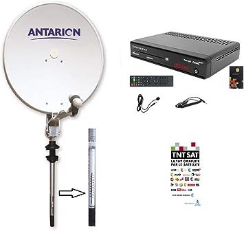 ANTARION – Kit de antena parabólica satélite manual 65 cm + ...