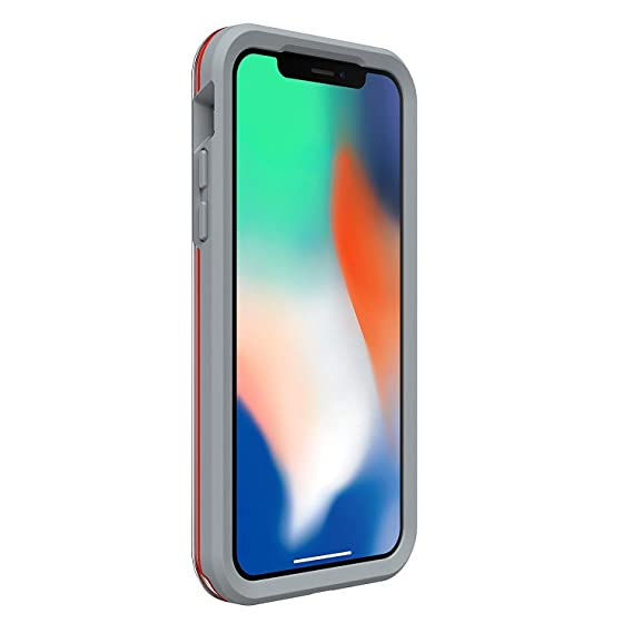 innovative design d8b09 3f743 Lifeproof SLAM Series Case for iPhone X (ONLY) - Retail Packaging - Lava  Chaser (Clear/Cherry Tomato/Sleet)