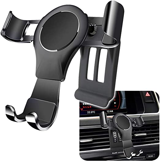 LUNQIN Car Phone Holder for 2010-2016 Audi Q5 SQ5 Big Phones with Case Friendly Auto Accessories Navigation Bracket Interior Decoration Mobile Cell Mirror Phone Mount