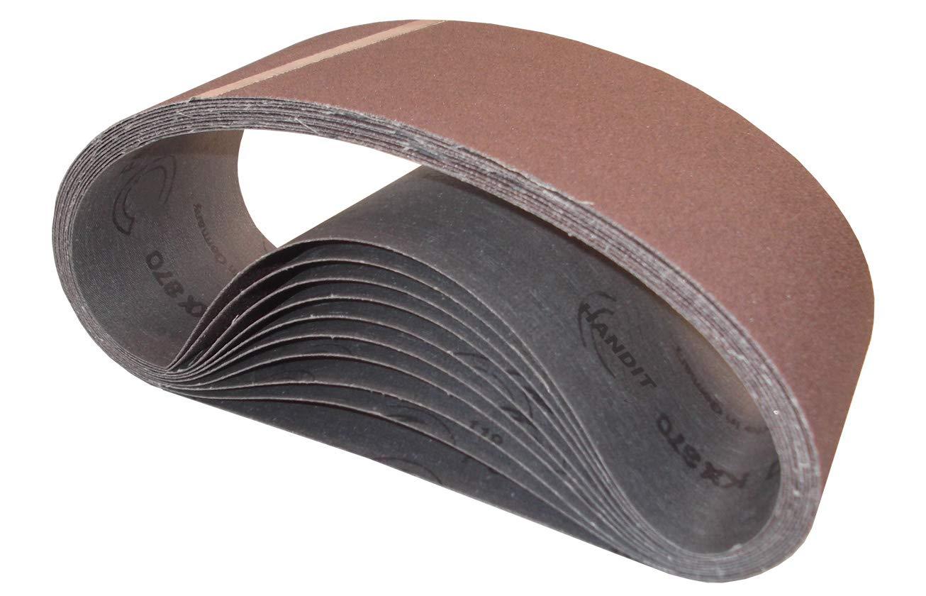 GRANO 120, 10 UNIDADES Bandas de lija HANDIT 100x560 mm.