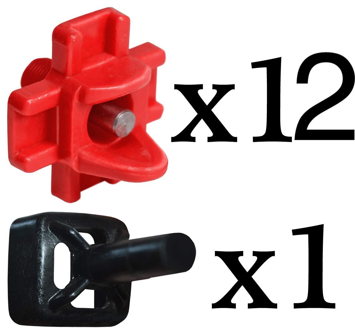 RentACoop 12 Pack Make Your Own Waterer Kit Installation Piece Horizontal Side Mount Chicken Nipples