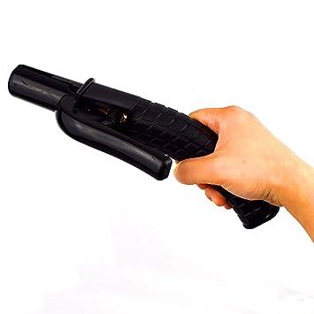 Resistente al calor pistola de soldadura electrodo soporte de mecánico forma mango 600 A para artes marciales mixtas Stick Rod soldador: Amazon.es: ...