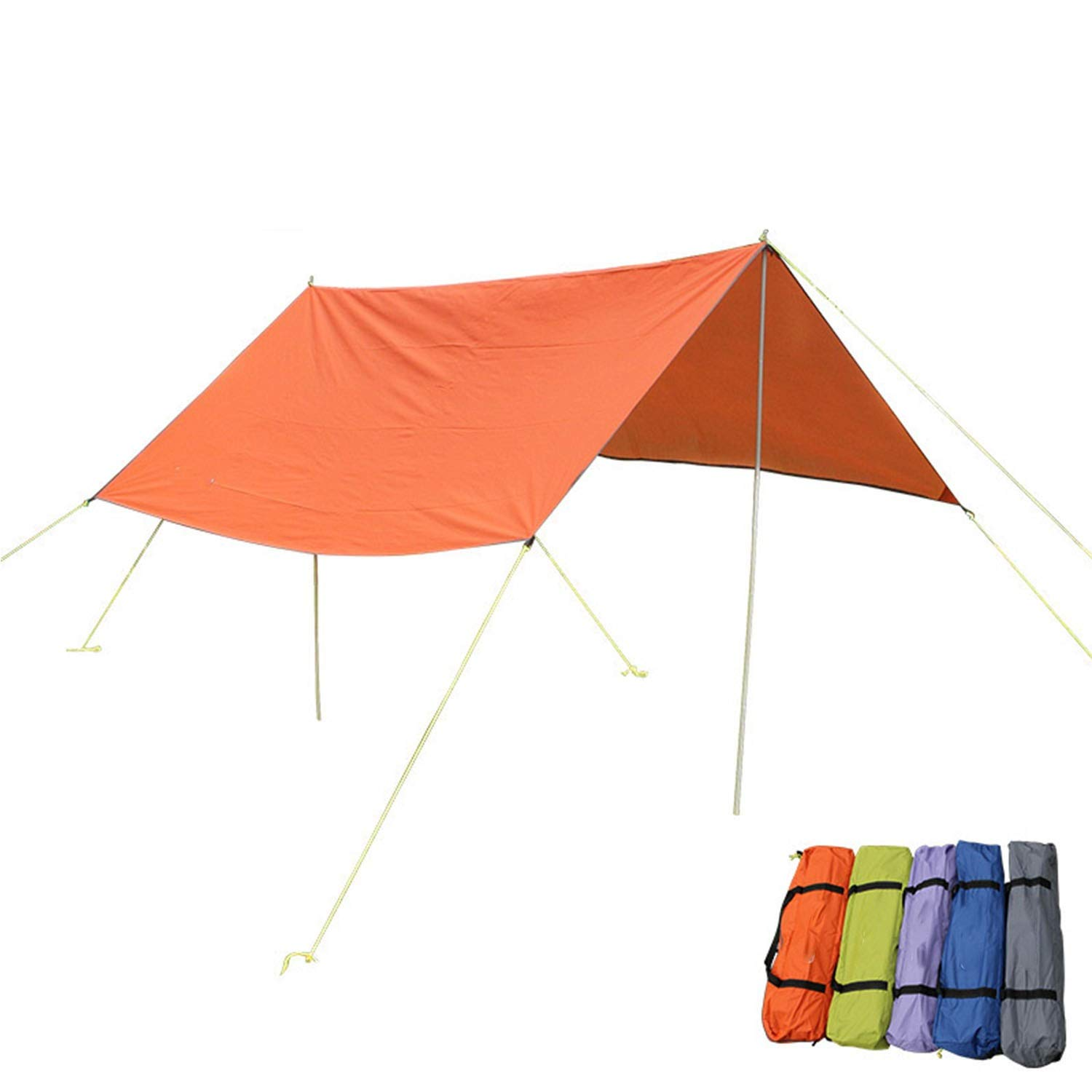 YOZOOE Canopy/Sunscreen/Pergola/Sunshade, Multi-Function Outdoor Canopy, Outdoor Camping Tent Cover, Portable Camping Gear, Five Colors Random Delivery by YOZOOE