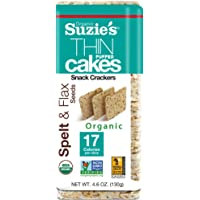 Suzie's Spelt & Flax Seed Thin Cakes Case of 12 packages 4.6oz. each