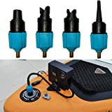 PeSandy Inflatable SUP Pump Adaptor Compressor Air Valve Converter, Multifunction SUP Valve Adapter with 4 Air Valve Nozzles