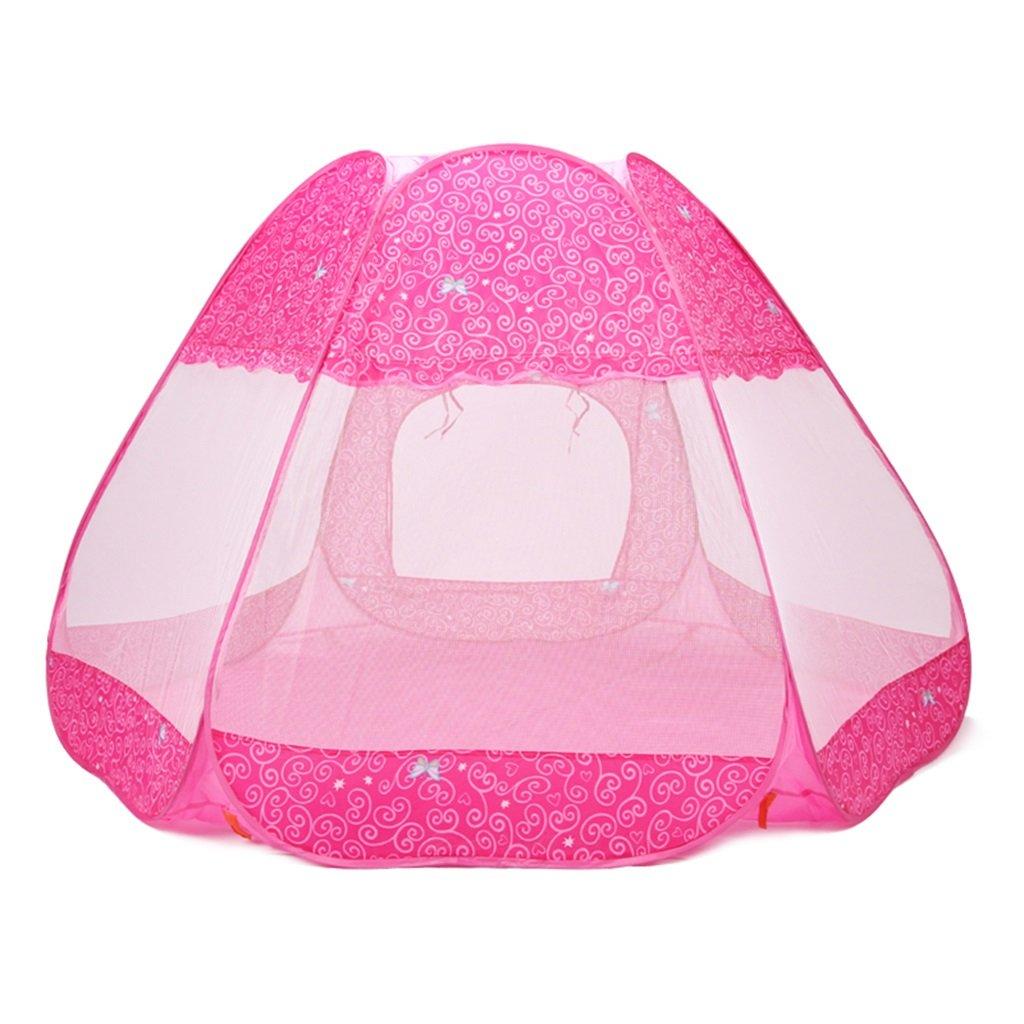 SESO UK- Prinz oder Prinzessin Sommerpalast Schloss Kinder Kinder spielen Zelt Haus kriechen Indoor oder Outdoor Garten Spielzeug Spielhaus Strand Sonne Pop Up Zelt Haus Jungen Mädchen (180x160x110cm)