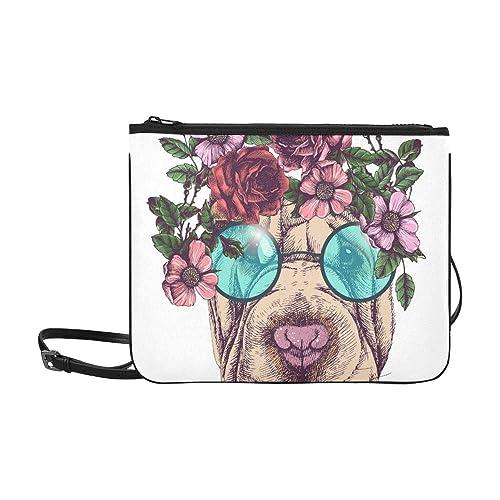 WYYWCY Hippie Sharpei Rosas Guirnalda gafas de sol redondas ...