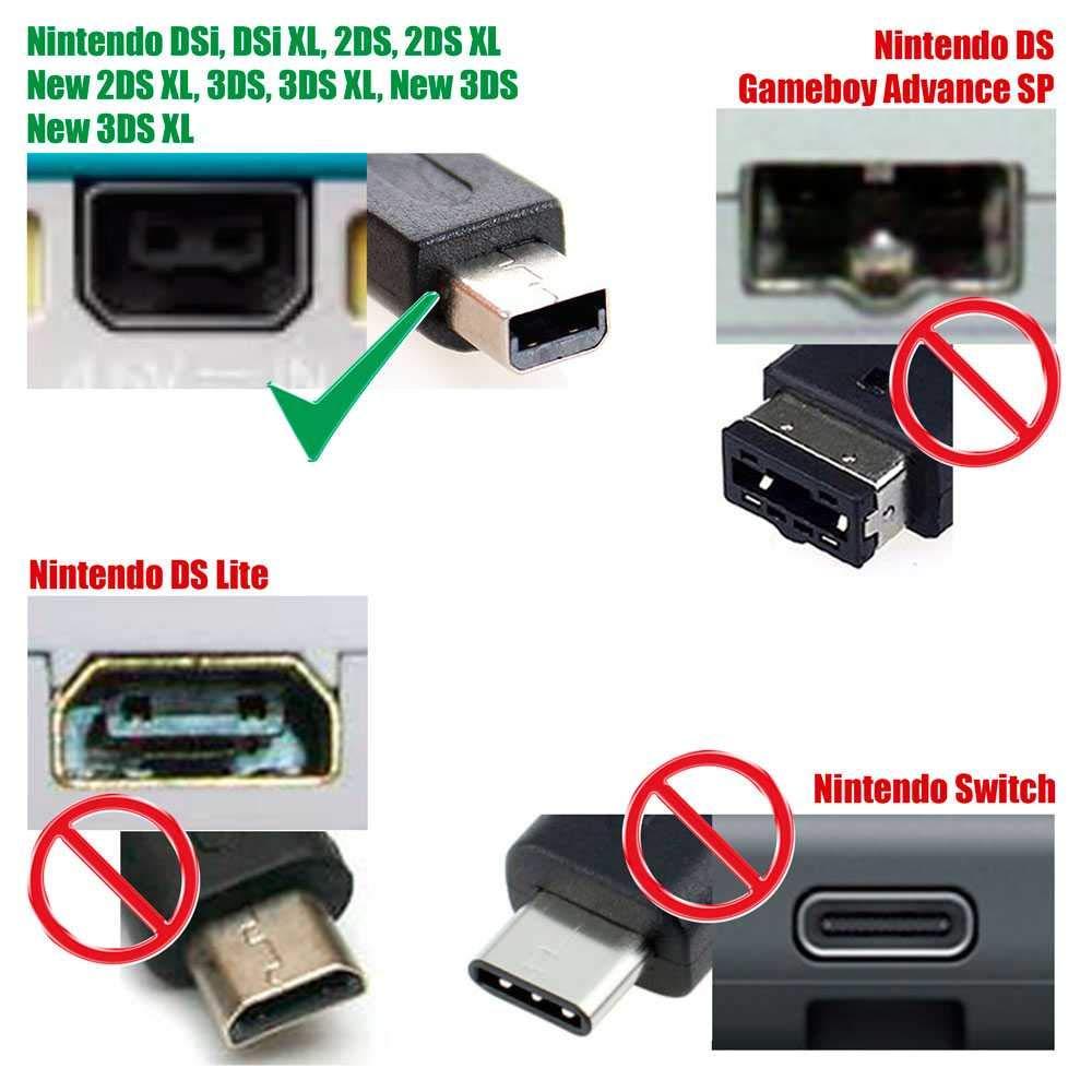 Cargador de corriente para Nintendo DSi, DSi XL, 3DS, 3DS XL ...