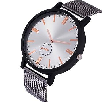 Zxzays Reloj de Cuarzo de Lujo Superior Hombres Casual Reloj de Cuarzo Negro Reloj de Acero Inoxidable Reloj Ultra Delgado Hombre New Man Relojes, Plata: ...