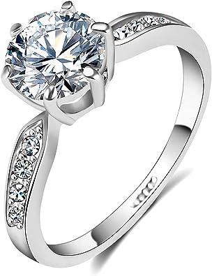 Amazon Com Qjle 1 5 Carat Cz Diamond Cut Cubic Zirconia