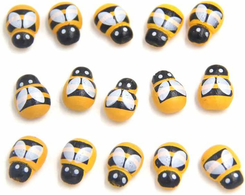 100 api adesive ape legno scrapbook decorative decorazione frigo barattoli miele