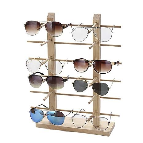 JUSTDOLIFE Soporte De Exhibición De Los Vidrios Creativo Madera Decorativa Estante para Gafas De Sol para El Hogar