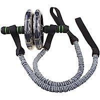 DAVEVY - 2 Unidades de Rueda Abdominal Multifuncional para Ejercicio, Fitness, AB, Rueda de Rodillo para Ejercicio Abdominal, Fitness, Tirar, Trenzado, Peso, Equipo de Ejercicio