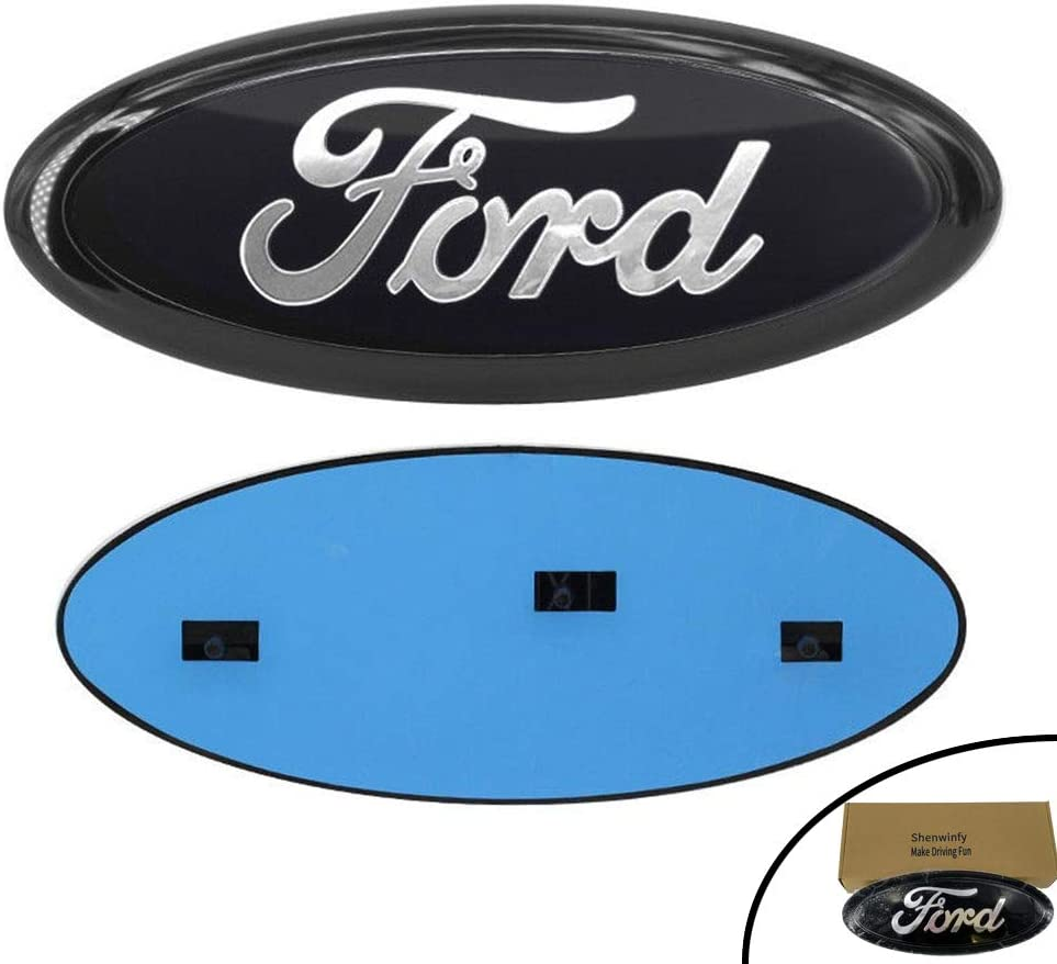 Oval 9X3.5 11-16 Explorer Shenwinfy Front Grille Tailgate Emblem for 04-14 F150 F250 F350 Ford Decal Badge Nameplate for 11-14 Edge 06-11 Ranger 07-14 Expedition