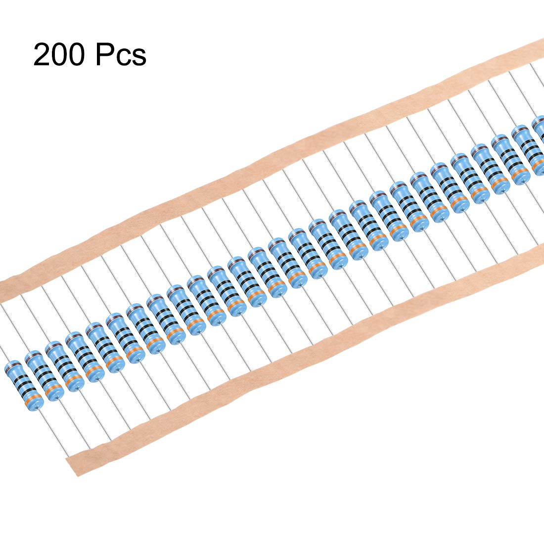 sourcing map 200 St/ücke Metallfolien Widerst/ände 1 Watt 8,2 Ohm 1/% Toleranzen 5 Farbig B/änder