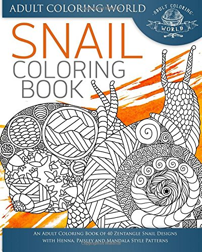 Snail Coloring Book Zentangle Patterns product image