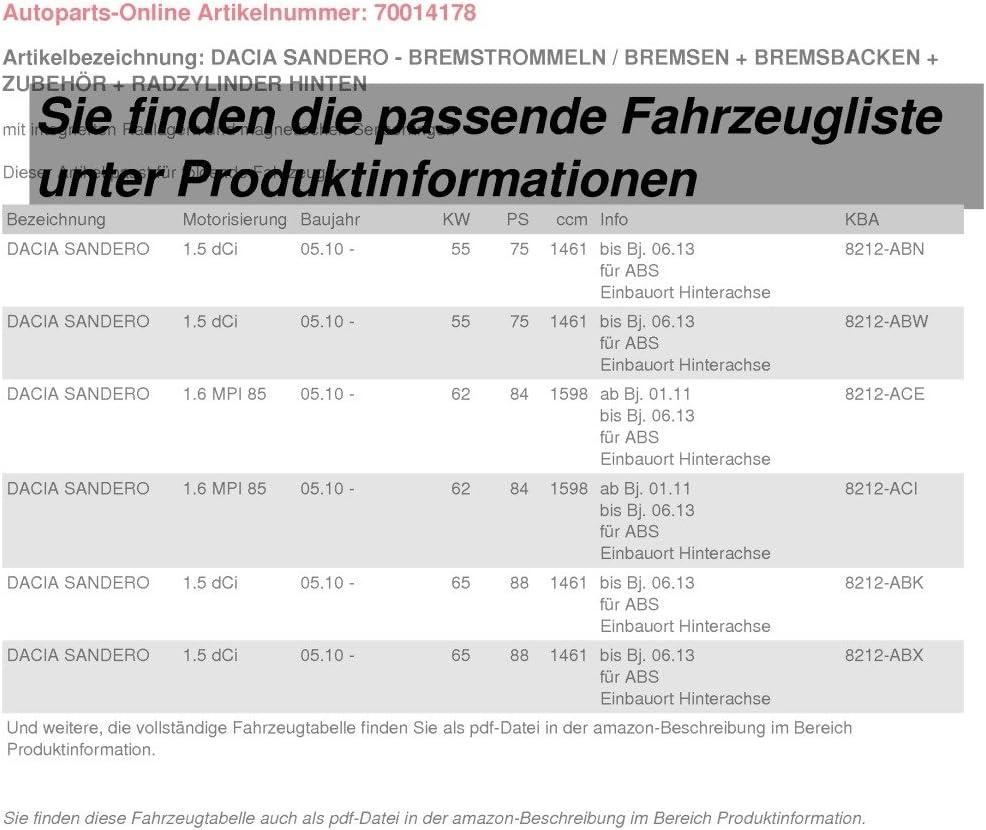 BREMSBACKEN ZUBEH/ÖR BREMSBACKENSATZ /Ø 203mm TROMMELBREMSE