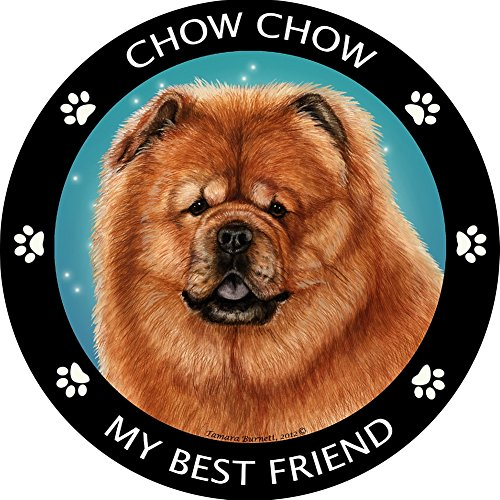 My Best Friend Chow - Red Magnet