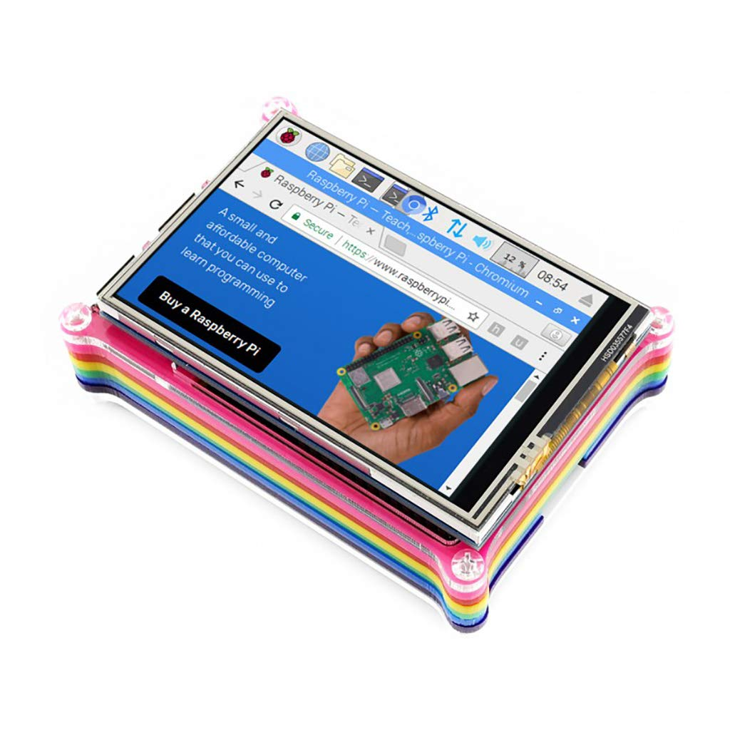 Waveshare 3.5 inch Resistive Touch Screen TFT LCD XPT2046 480x320 125MHz High-Speed SPI Supports FBCP Software Driver for Any Revision of Raspberry Pi (Directly-pluggable) by waveshare (Image #8)