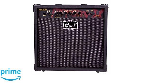 Cort MX30R amplificador eléctrico Negro Guitarra: Amazon.es: Instrumentos musicales