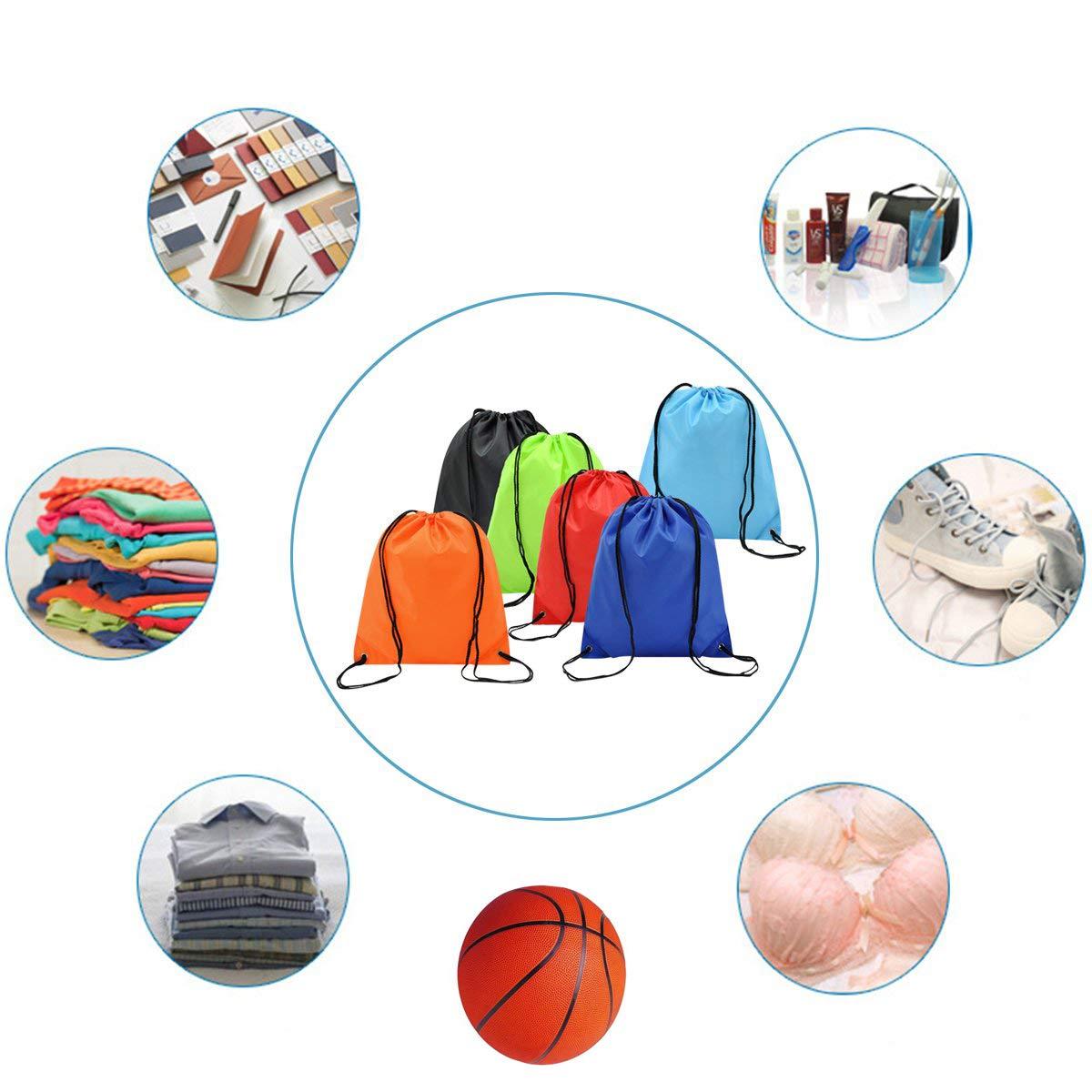 Xuxuou 1 pcs Hombres y Mujeres de Moda Simple Personalidad Impermeable cord/ón Deportes y Ocio Bolsas de Fitness Bolsa de Almacenamiento de Viaje al Aire Libre Oxford pa/ño viga Bolsa de Bolsillo Negro