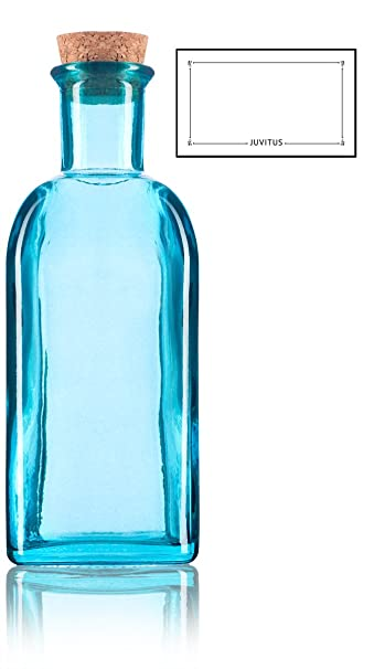 Amazoncom Blue Spanish Thick Recycled Glass Bottle With Natural