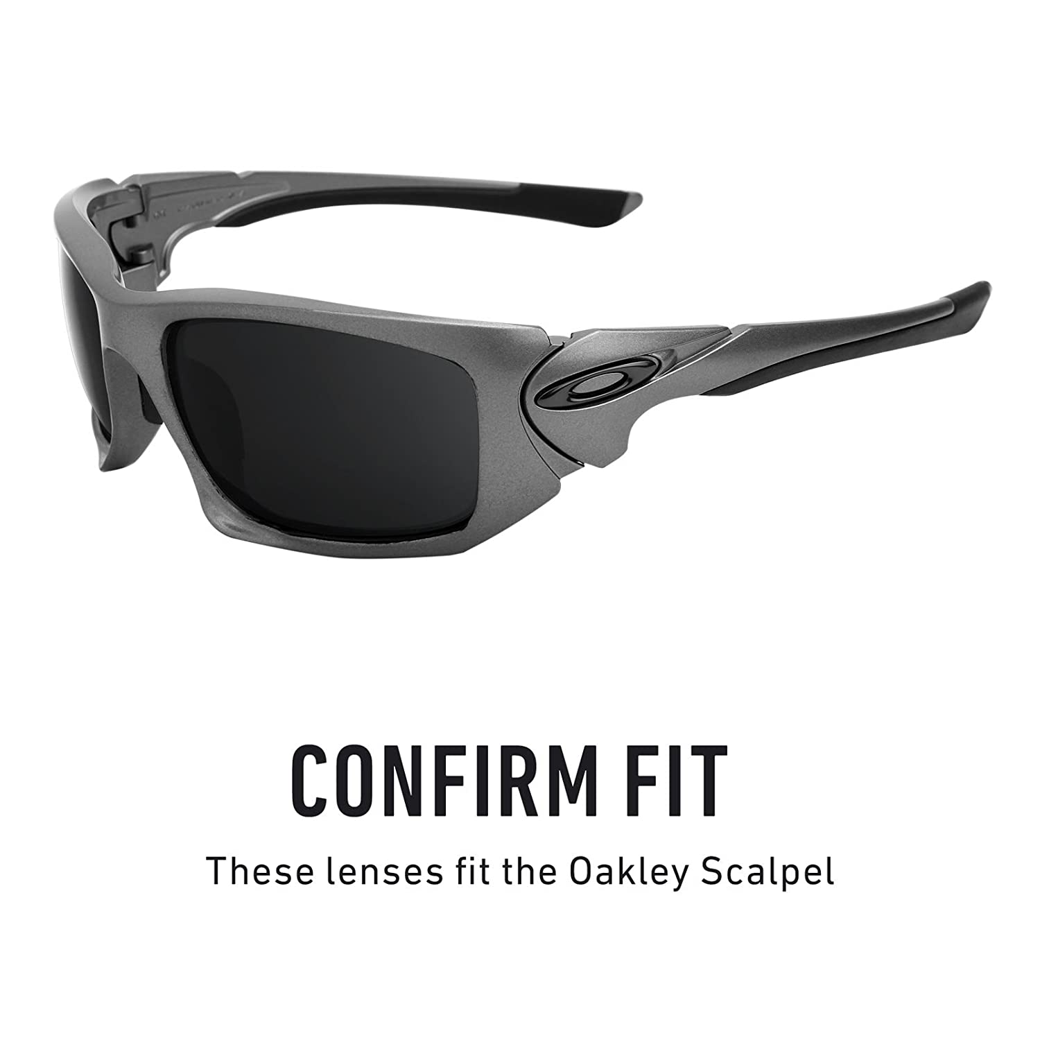 a88318e0bcc Amazon.com  Revant Polarized Replacement Lenses for Oakley Scalpel Elite  Black Chrome MirrorShield  Sports   Outdoors