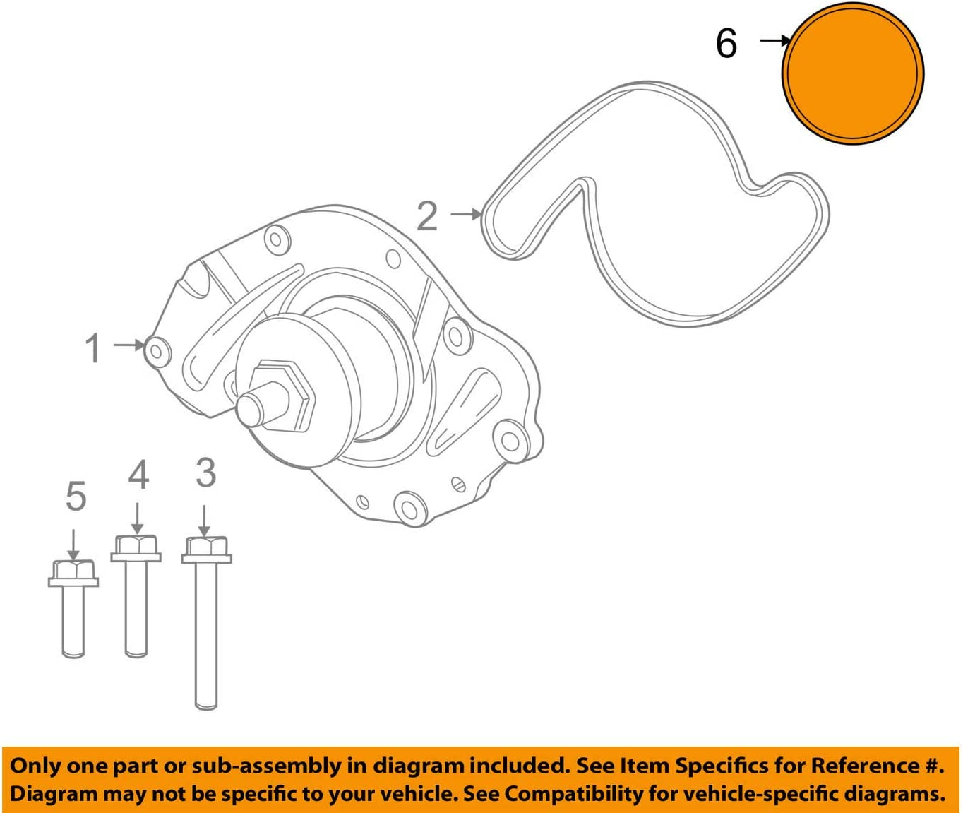 [TBQL_4184]  Amazon.com: Volkswagen 7B0 121 043, Engine Water Pump Gasket: Automotive | Vw 1500 Engine Diagram |  | Amazon.com