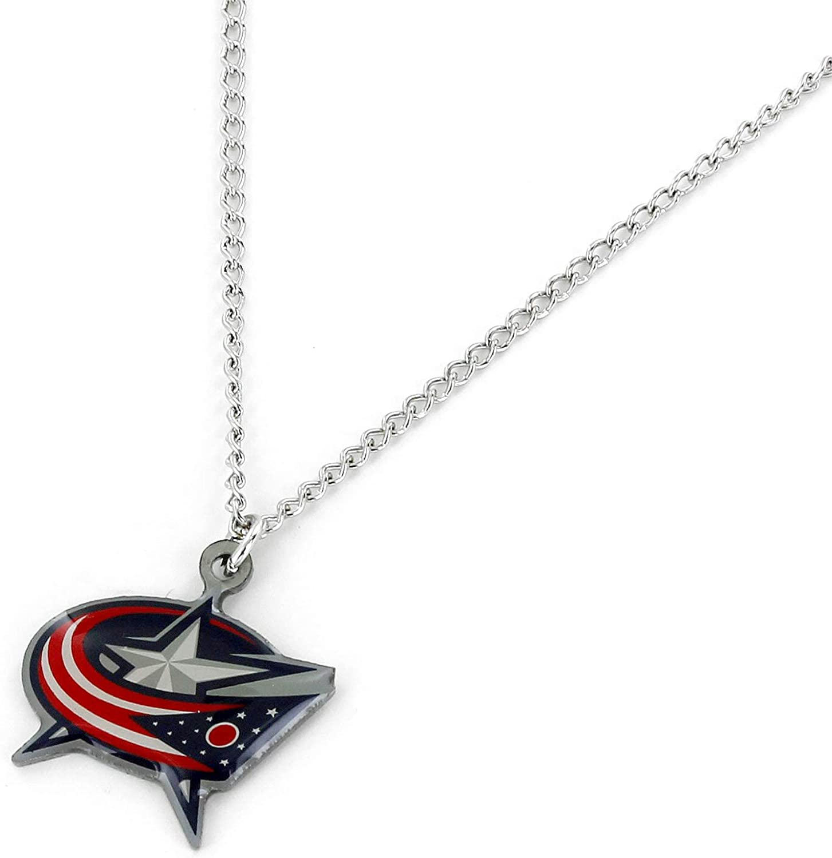 aminco NHL Columbus Blue Jackets Team Logo Pendant Necklace