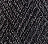 Andersen 296 Waterhog DiamondCord Polypropylene Fiber Interior/Scraper Wiper Floor Mat, SBR Rubber Backing, 10' Length x 3' Width, 3/8'' Thick, Grey Cord