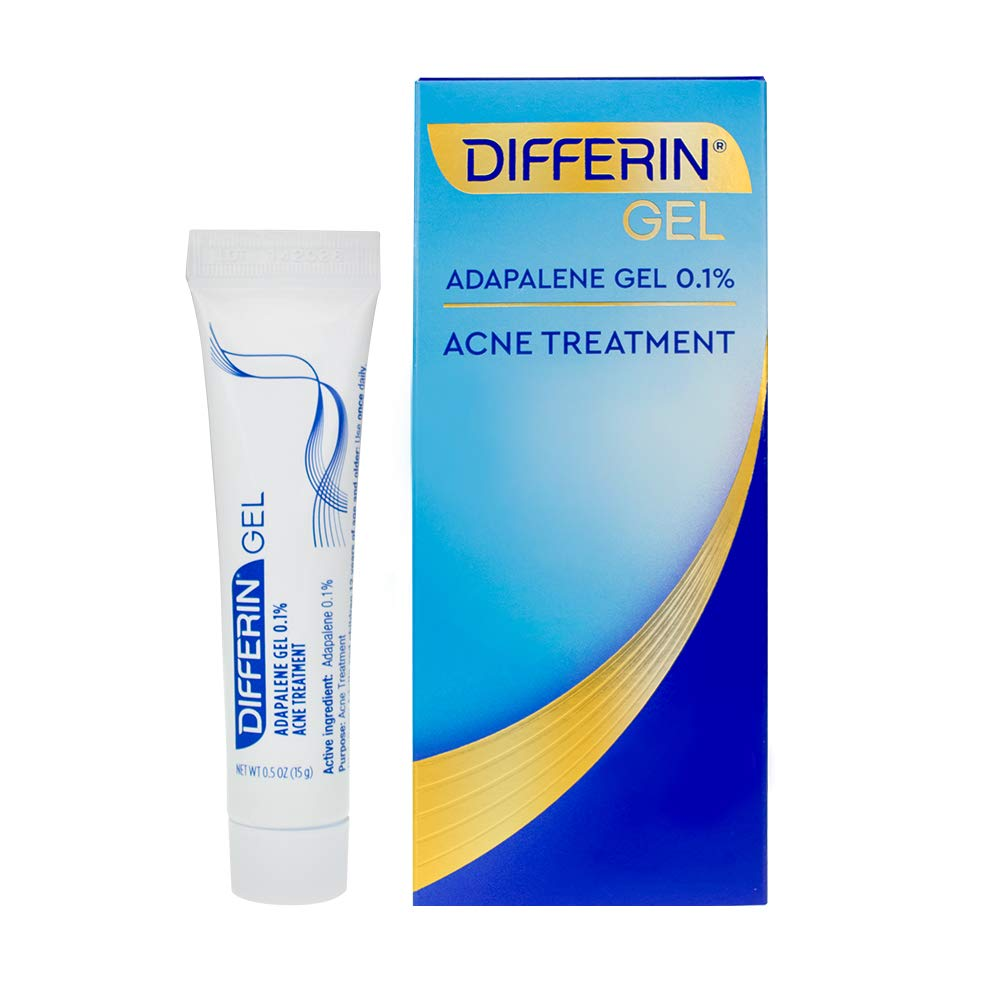 Acne Treatment Differin Gel, Acne Spot Treatment for Face with Adapalene, 15g, 30 Day Supply, 0.5 Ounce