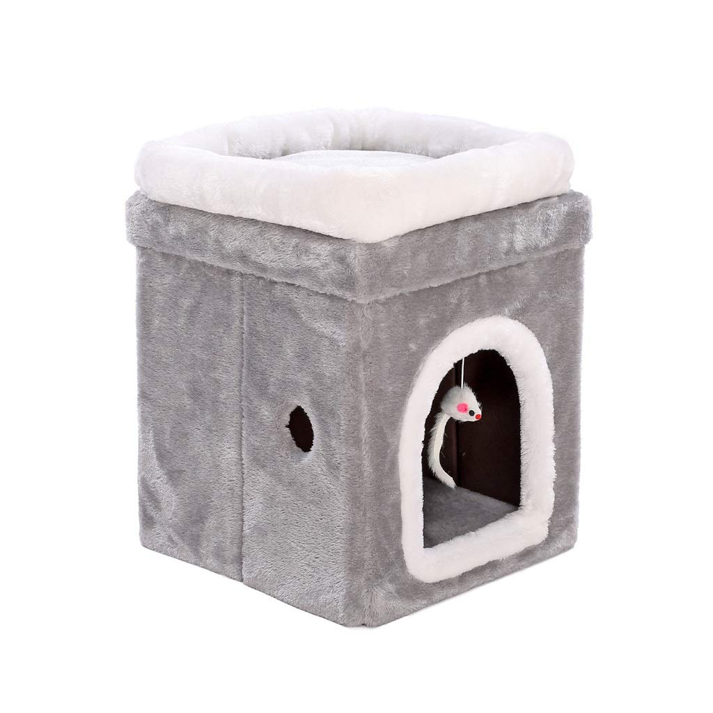 40x40x50cm PLDDY Portable Indoor Dog House Outdoor,Soft Pet House Bed,Cat Nest Cave, Folding, Easy To Carry, All Seasons Usable, Great for Transportation and Short Outings (Size   40x40x50cm)