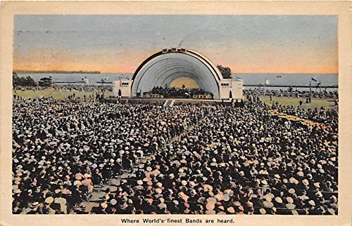 band-shell-toronto-ontario-canada-old-vintage-football-postcard-post-card