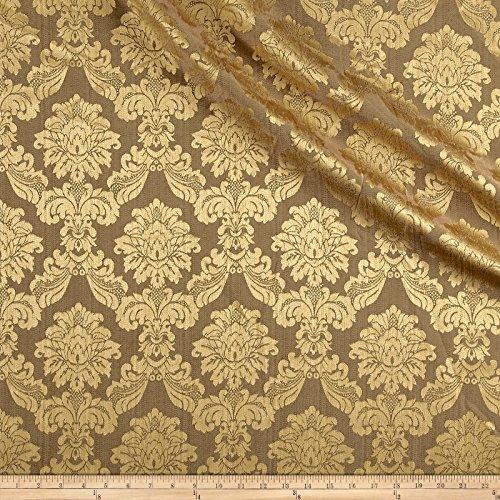 Europatex Dashing Damask Jacquard Antique Fabric By The Yard