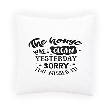 Amazon The House Was Clean Yesterday Decorative Pillow Magnificent How To Clean Decorative Pillows
