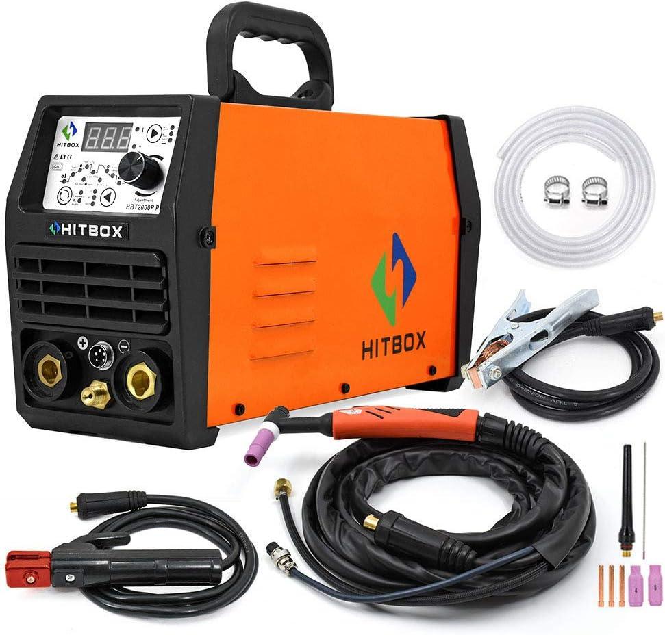 220V 180A Soldador TIG Inversor de impulsos IGBT Stick TIG Soldadora digital Soldadora HITBOX