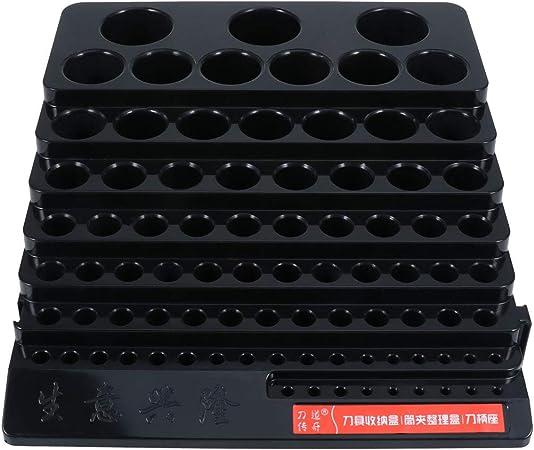 OUNONA - Caja organizadora para brocas, color negro, vacía: Amazon.es: Hogar