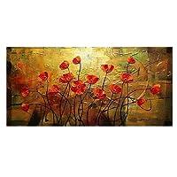 Dipinti Floreali Dipinti A Mano Moderna Astratta Pittura A Olio del Fiore su Tela Decorazione della Casa Immagini Arte Decorazione della Parete (Senza Telaio)