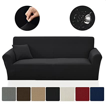 Magnificent Saxtx Stretch Couch Slipcover Waterproof Non Slip Sofa Covers Stains Resistant Prevent Scratches Furniture Cover Pets Cats Kids Chair Black Andrewgaddart Wooden Chair Designs For Living Room Andrewgaddartcom