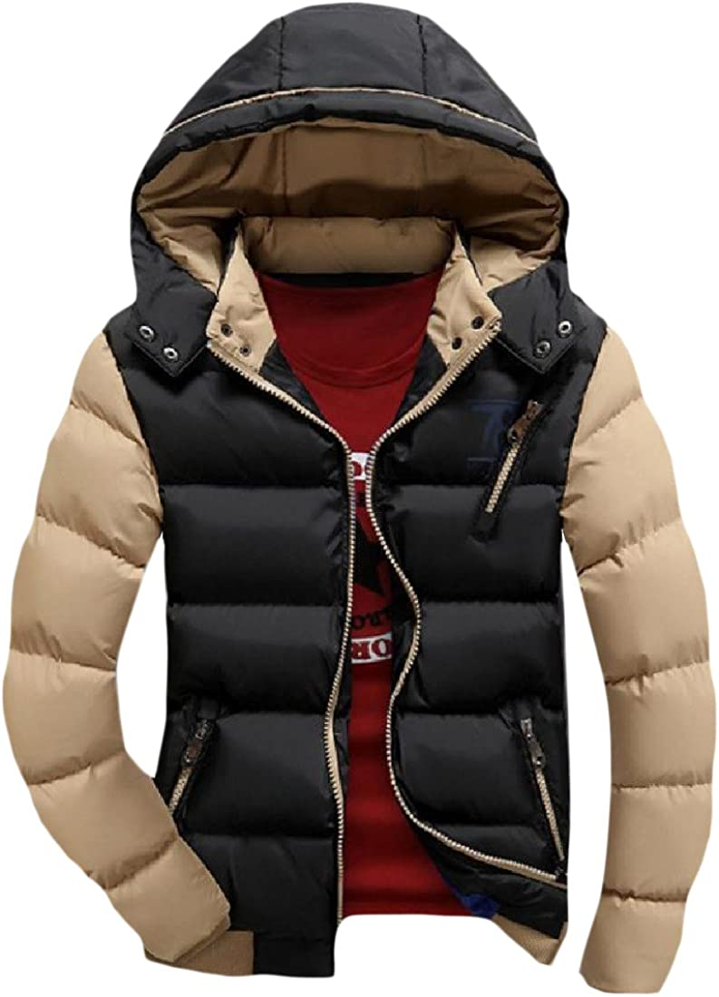 ColourfulMen Colourful Men Hood Spell Color Zip Up Pockets Luxury Parka Jacket Outwear
