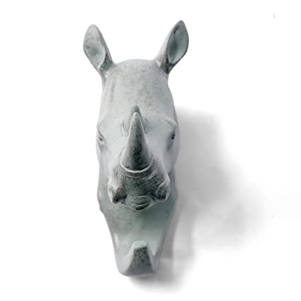 Cabeza de rinoceronte urbanlifeshop único gancho de pared ...